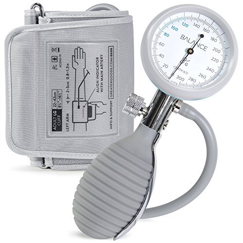 Sphygmomanometer Manual Blood Pressure Monitor with Travel Case from Greater Goods