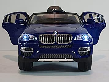 children ride on electric car baby blue bmw x6 with genuine license kids battery ride on