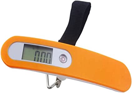 50kg Digital Travel Portable Handheld Weighing Luggage Scales Suitcase Bag Scale Orange