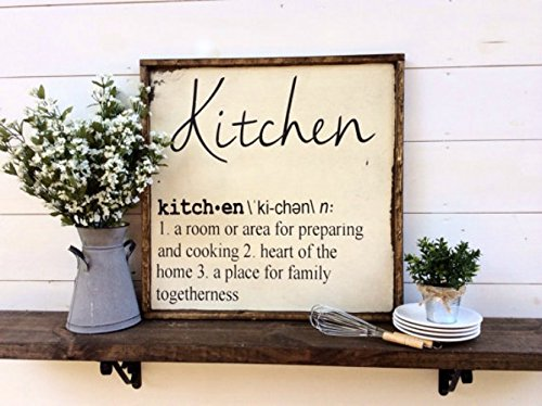 Kitchen Definition Sign Kitchen Signs Farmhouse Signs