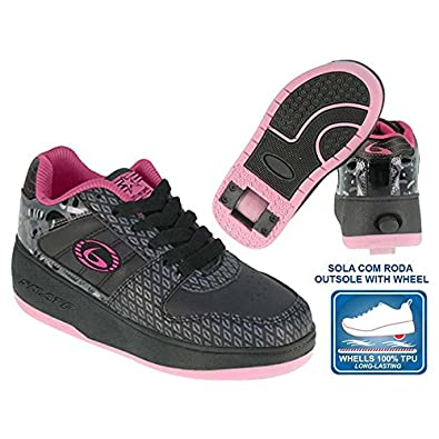 Beppi 2150831 - Zapatillas con Ruedas para niña, Color Negro/Fucsia, Talla 34: Amazon.es: Zapatos y complementos