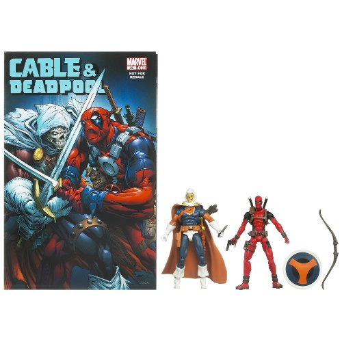 Marvel Universe Deadpool and Taskmaster Figure Comic Pack 4 Inches