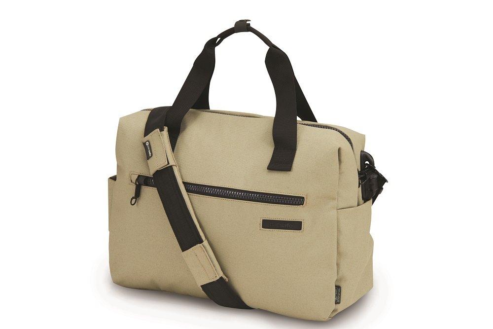 Pacsafe Intasafe Z400 Deluxe Anti-Theft Laptop Shoulder Bag, Slate Green