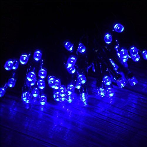 Solar Powered LED String Light, 55-Feet, 100 LED, Blue