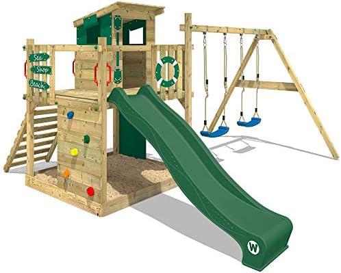 WICKEY Parque infantil de madera Smart Camp con columpio y tobogán ...