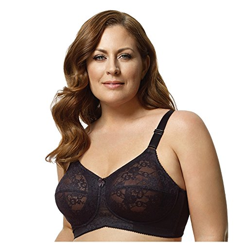 Elila Women's Plus Size Full Coverage Lace Softcup Bra