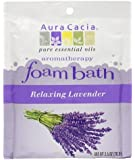 Aura Cacia Aromatherapy Foam Bath, Relaxing Lavender, 2.5 ounce packet (Pack of 3)