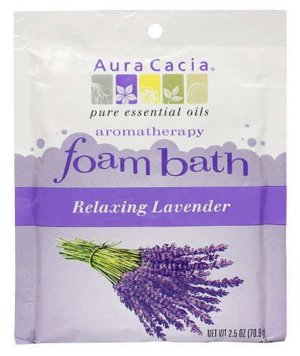 Aura Cacia Aromatherapy Foam Bath, Relaxing Lavender, 2.5 ounce packet (Pack of - 2.5 Ounce Bath