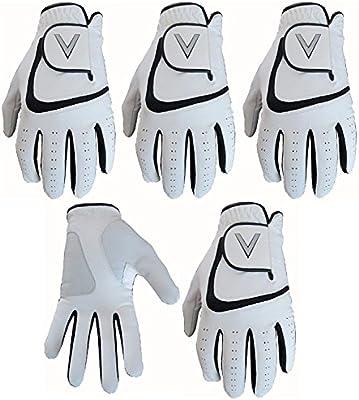 5 guantes de golf color blanco para todo tipo de condiciones ...