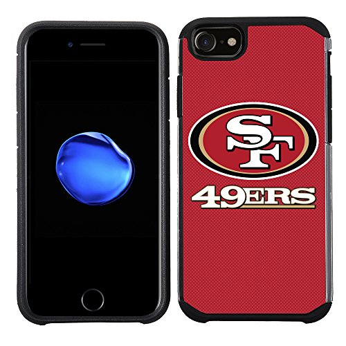 Prime Brands Group Cell Phone Case for Apple iPhone 8/ iPhone 7/ iPhone 6S/ iPhone 6 - NFL Licensed San Francisco 49Ers Textured Solid Color