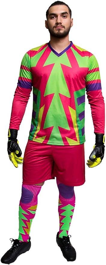 Geko Sports Brody Jorge Campos Torwart Set Trikot Und Short Neon Multicolor Jugendliche Gr S Amazon De Bekleidung