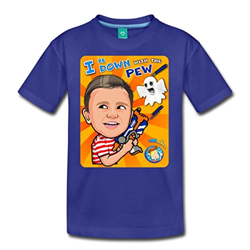 - Spreadshirt Funnel Vision Down with The Pew Kids' Premium T-Shirt, Youth XS, Royal Blue