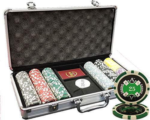 MRC 300pcs Ace Casino Poker Chips Set with Aluminum Case Custom Build