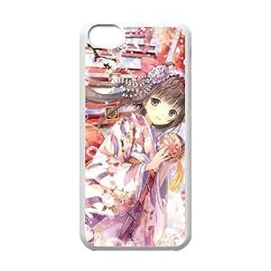 iPhone 5c Cell Phone Case White anime Geisha 08 Viiu