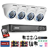 Annke 8-Channel 1080P HD-TVI Security System with 1TB Hard Drive and (4) 2.1MP/1920 TV-Lines Weatherproof Cameras, Outdoor /Indoor Fixed Metal Housing, QR Code Scan Free Remote View Review