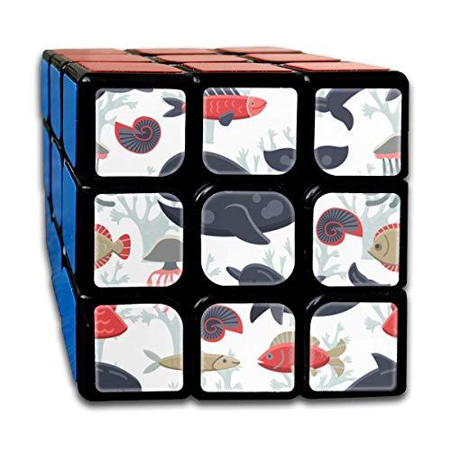 3x3 Rubik Cube Marine Life Sea Animal Pattern Smooth Magic Cube Sequential -