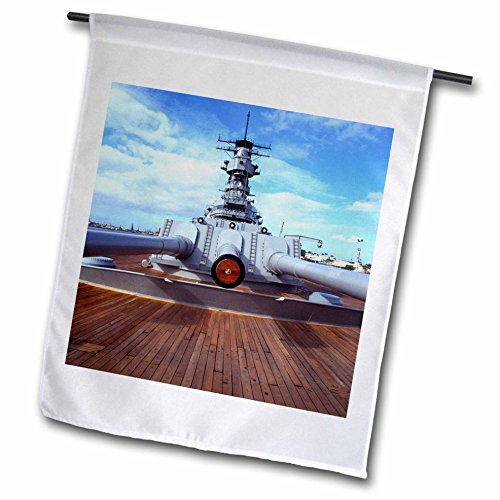 Danita Delimont - WWII - WWII USS Missouri, Pearl Harbor, Oahu, Hawaii - US12 DPB1438 - Douglas Peebles - 18 x 27 inch Garden Flag (fl_89719_2) ()