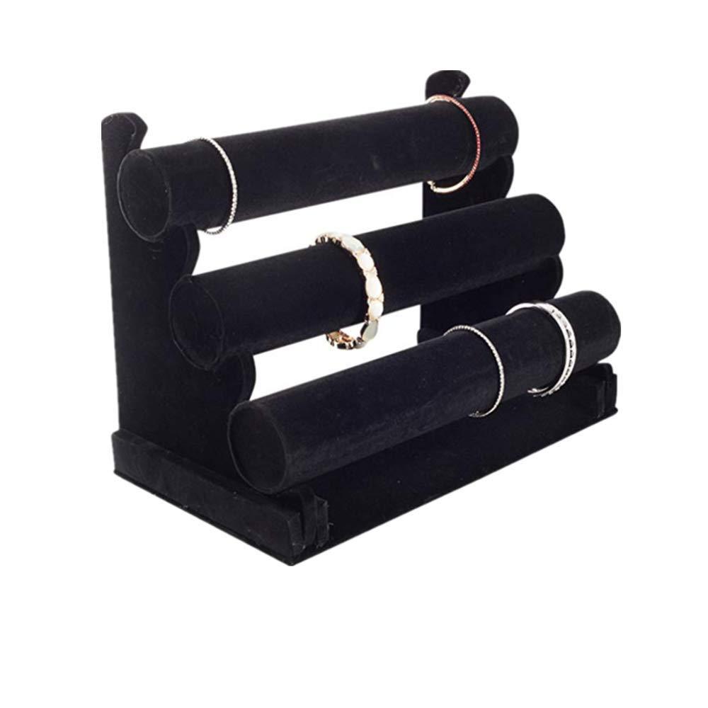 XIGUI Support de Bracelet en Velours /à Trois Niveaux pour Organiser et pr/ésenter des Bijoux