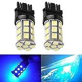 KATUR 2-Pack Blue Super Bright 750Lums 3157 3047 3057 3155 3457 4057 Base 27 SMD 5050 LED Replacement for Car Incandescence Bulb RV Camper Brake Turn Lamp Lights DC 12V 8000K