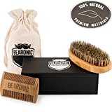 Beard-Brush-Beard-Comb-Kit-by-BEARDNIC-All-Natural-Handmade-Set-With-Beautiful-Cotton-Travel-pouch-And-Magnetic-Gift-box-Sturdy-Boar-Bristles-For-Facial-Hair-Grooming