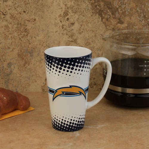 - Boelter San Diego Chargers 16-Ounce Sculpted Latte Mug