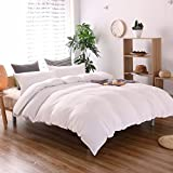 THEE 3 Piece Solid Color White Quilt Cover Bedding Duvet Cover Set(Queen)