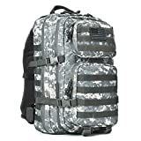 Tactical Backpack - Military Tactical Backpack Large Army 3 Day Assault Pack Molle Bug Out Bag Backpack Rucksacks for Outdoor Hunting Hiking Camping Trekking ACU Camouflage