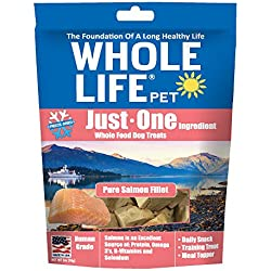 Whole Life Pet Single Ingredient Usa Freeze Dried Salmon Filet Treats For Dogs, 2-Ounce