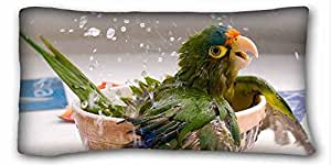 Custom Characteristic Animal Custom Zippered Pillow Case 20x36 inches(one sides) from Surprise you suitable for Queen-bed