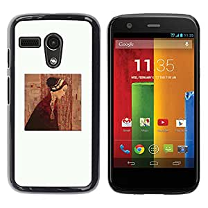 For Motorola Moto G1 / X1032 Case , Clean Painting Dress Deep White - Diseño Patrón Teléfono Caso Cubierta Case Bumper Duro Protección Case Cover Funda