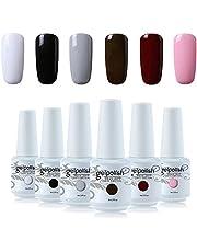 Vishine 6Pcs Soak Off LED UV Gel Nail Polish Varnish Nail Art Starter Kit Beauty Manicure Collection Set C004