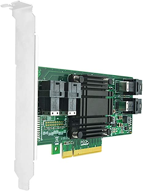 DiLiVing Quad Ports PCIe x8 NVMe U.2 SSD Switvh Adapter Integrated PLX high Performance PCIe Switch chip SFF-8643