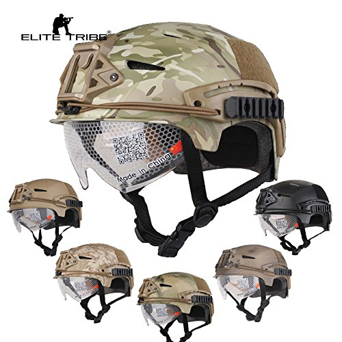Airsoft Hunting Tactical Helmet Combat Helmet with Goggle (Multicam) by Paintball Equipment