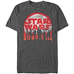 Solo: A Star Wars Story Men's Logo Character Splatter Print Charcoal Heather T-Shirt
