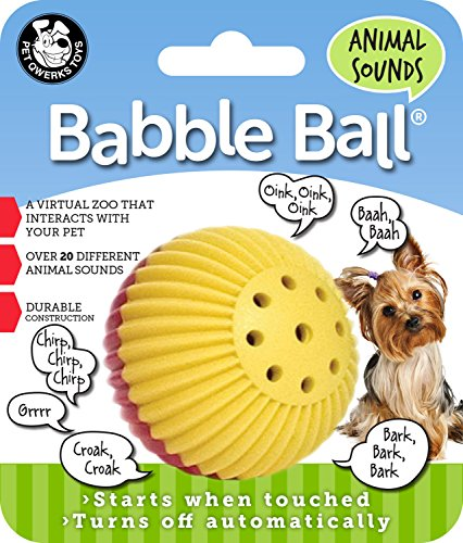(Pet Qwerks-Animal Sounds Babble Ball- Red & Yellow Small(Case of 72))