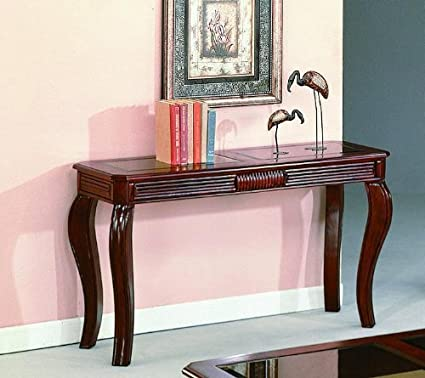 Amazon Com Lydia Cherry Sofa Table By Crown Mark Furniture Kitchen