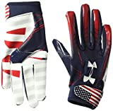 Under Armour Boys' F6 LE Football Gloves, Midnight Navy (410)/White, Youth Small
