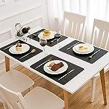 DOLOPL Placemats Black Placemat Leather Table Mats