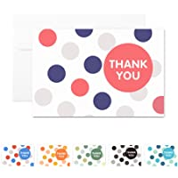 MALICPLUS 48 Greeting Cards, Thank You Cards, Blank Cards with Envelopes, Thank You Cards in Bulk Thank You Gift Card…
