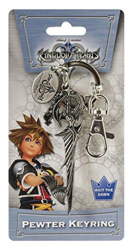 Keychain Heart Pewter - Disney Kingdom Hearts Sword Pewter Key Ring