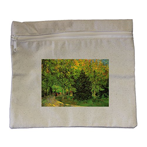Lane Public Garden At Arles (Van Gogh) Canvas Zippered Pouch Makeup Bag (Canvas Arles)
