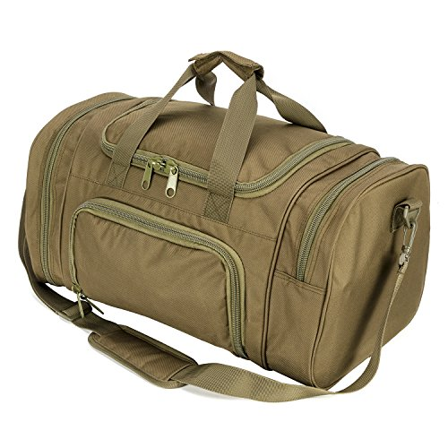 ARMYCAMOUSA Military Tactical Duffle Bag Gym Travel Hiking & Trekking Sports Bag with Shoes Compartment (O.D Green)