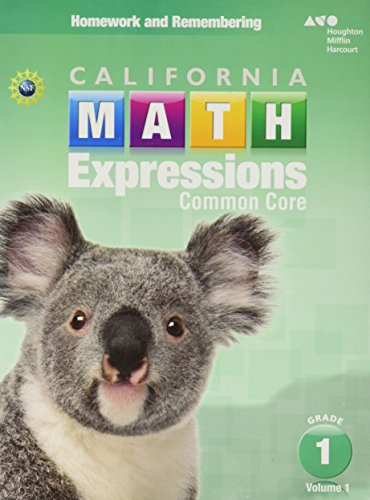 Houghton Mifflin Harcourt Math Expressions: Homework and Remembering Workbook, Volume 1 Grade 1 (Math Expressions Homework And Remembering Grade 1)