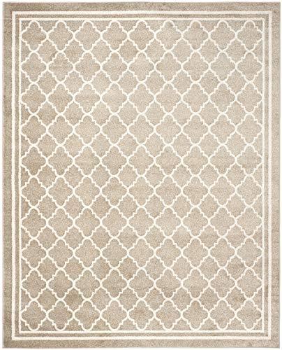 Safavieh Amherst Collection AMT422S Wheat and Beige Indoor/Outdoor Area Rug (8' x (Look Indoor Outdoor Area Rug)