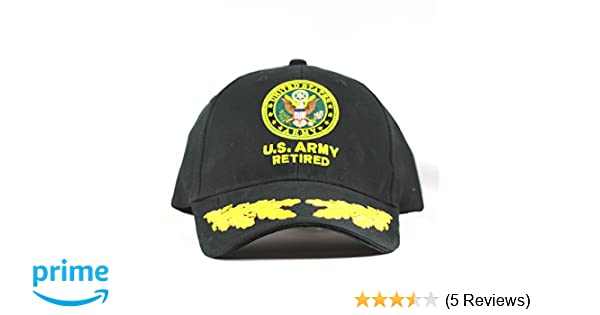 4456530ecb6 Amazon.com  US Army Retired Cap Scrambled Eggs United States Army Retired  Hats Collectibles  Sports   Outdoors