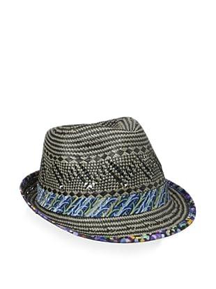 5e85ad5e49575d Robert Graham Men's Barney Straw Fedora (Black)