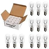 12 Pack Salt Lamp Bulbs,E12 25 Watt Incandescent Candelabra Bulbs,Long Lasting Replacement Light Bulbs for Himalayan Salt Lamps,Salt Night Lights 25 Watt E12 Socket