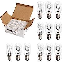 12 Pack Salt Lamp Bulbs,Incandescent Bulbs,Replacement Light Bulbs for Himalayan Salt Lamps,Salt Night Lights 25Watt E12 Socket