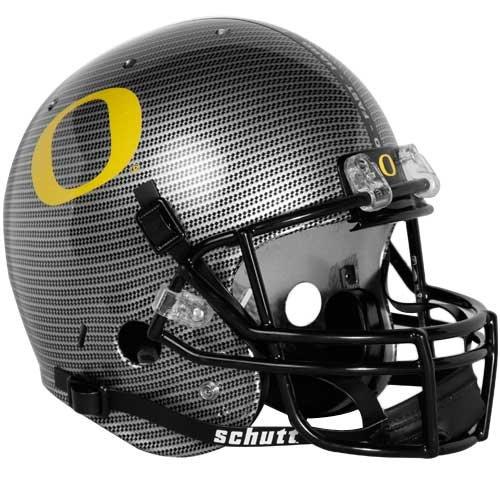 NCAA Oregon Ducks Replica Helmet - Alternate 4 (Carbon Fiber) by Schutt