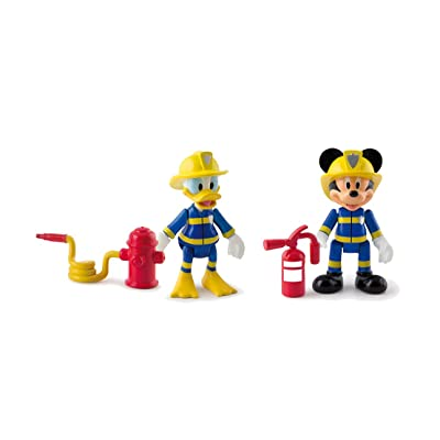 IMC Toys Mickey Mouse Club House - 181908 - Pack De 2 Figurines - Mickey & Donald Pompiers